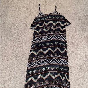 Tribal design maxi dress